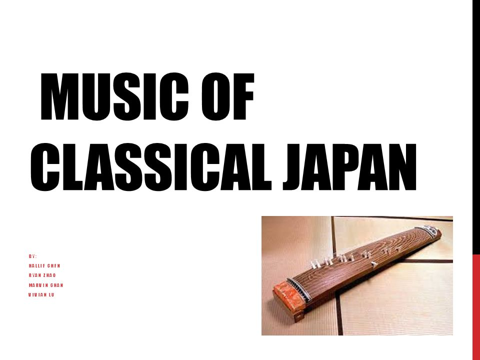 THE KOTO Traditional Japanese instrument 13 strings, which are plucked to create sound Originated in China Solo performances or ensemble Many forms in other countries in Asia
