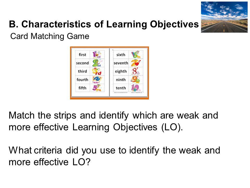 Learning Objectives Weak ObjectivesMore Effective Objectives