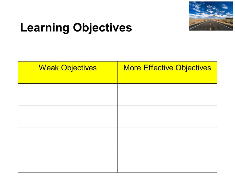 What criteria did you use to identify the weak and more effective LO?