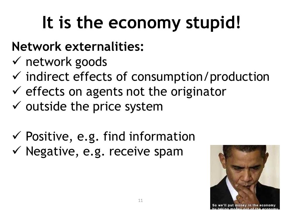 It is the economy stupid.