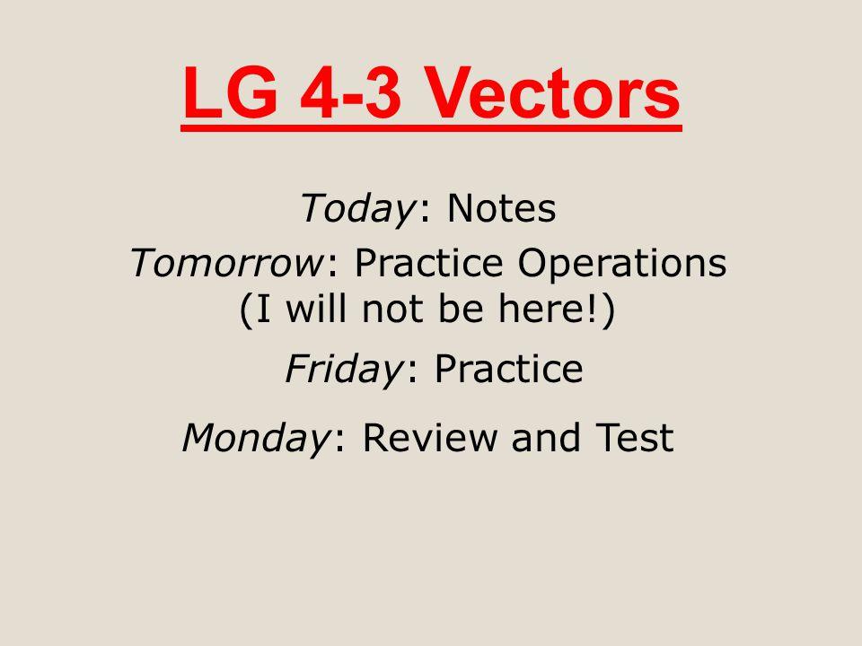 Unit 5: Non-Cartesian Functions LG 5-1: Vector Functions (quiz 10/14) LG 5-2: Parametric Functions (quiz 10/16) LG 5-3: Polar Functions (quiz 10/18) TEST 10/21