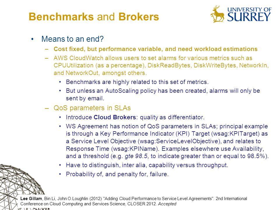 Benchmarks and Brokers Means to an end.