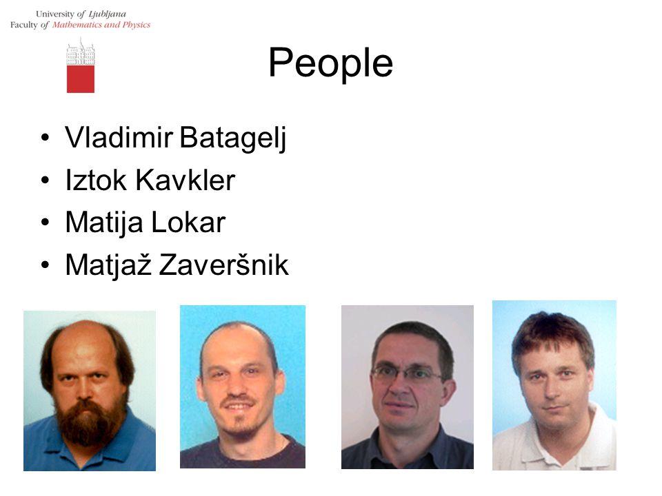 People Vladimir Batagelj Iztok Kavkler Matija Lokar Matjaž Zaveršnik