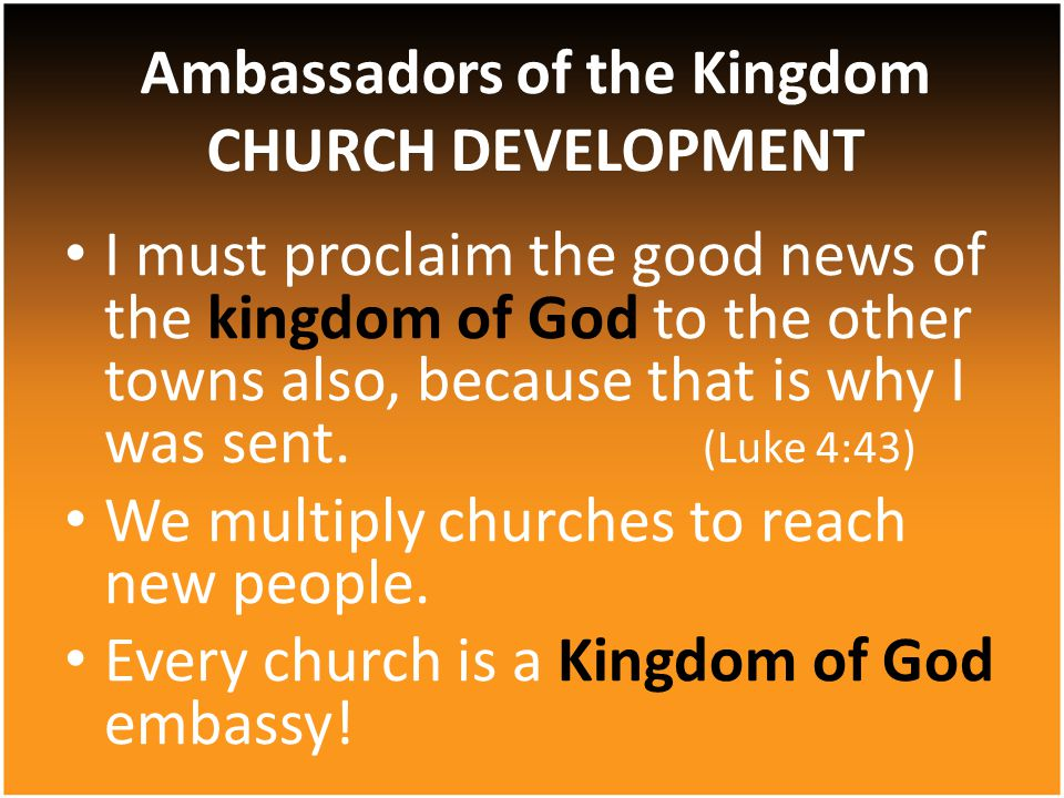 I must proclaim the good news of the kingdom of God to the other towns also, because that is why I was sent.