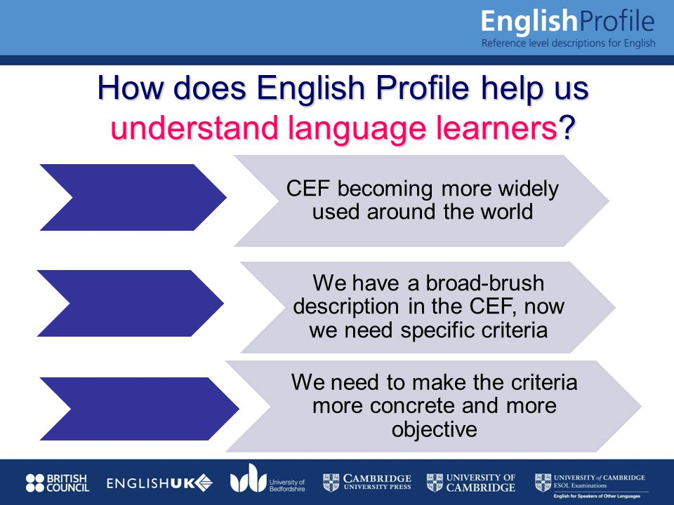 How does English Profile help us understand language learners.