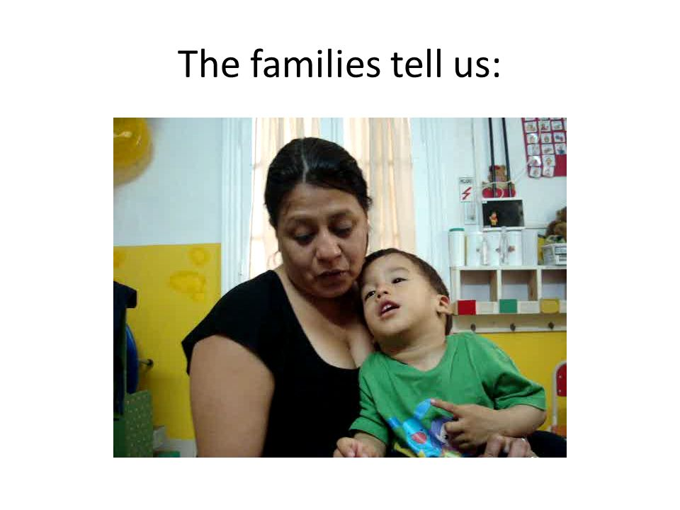 The families tell us:
