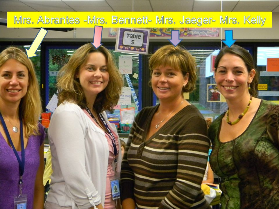 We welcome you to the First Grade Team.
