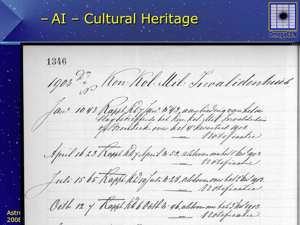 –AI – Cultural Heritage