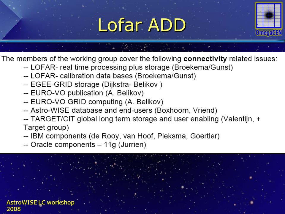 Lofar ADD AstroWISE LC workshop 2008