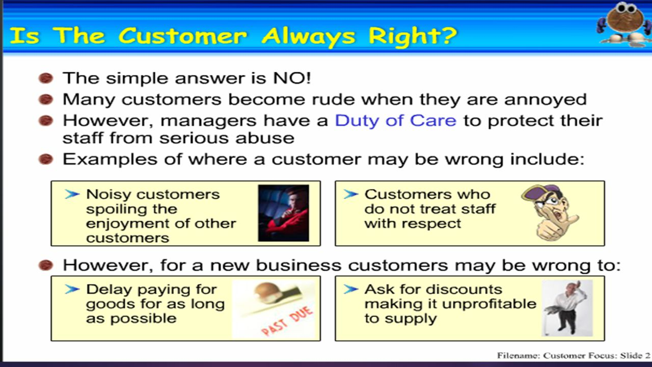 Customer focus 1.