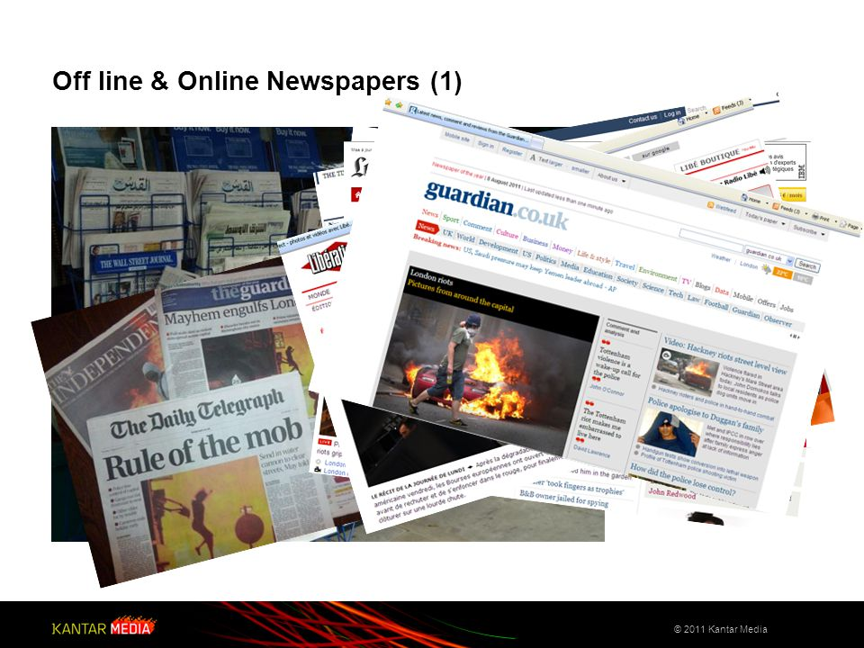 Off line & Online Newspapers (1) © 2011 Kantar Media