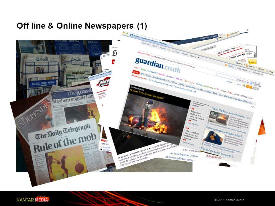 Off line & Online Newspapers (2) © 2011 Kantar Media