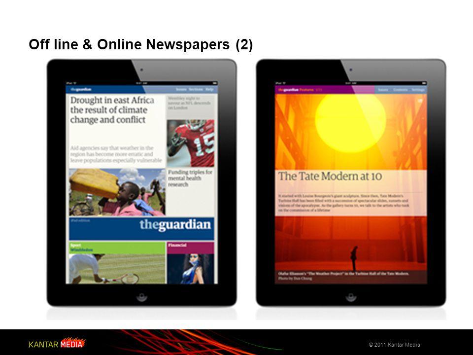 Off line - Online Newspapers & Apps (3) © 2011 Kantar Media http://flipboard.com/video