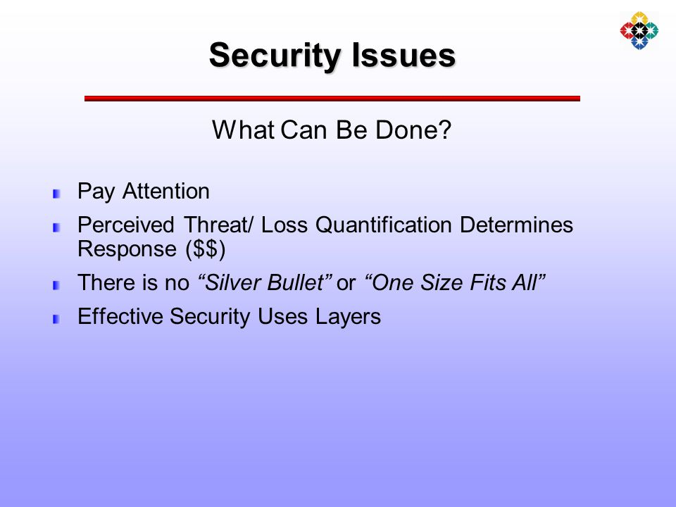 Security Issues What Can Be Done.
