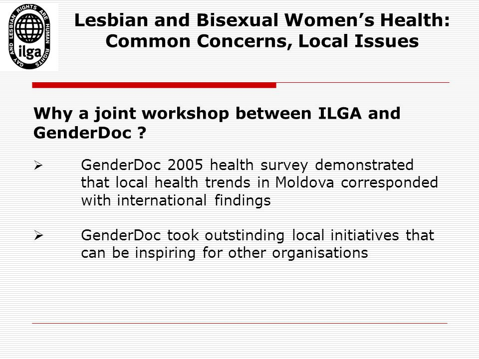 Why a joint workshop between ILGA and GenderDoc .