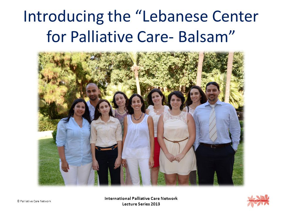 Palliative care delivery in Lebanon Facilitators: Advocacy activities of the National Committee for Pain Relief and Palliative Care Support and respon
