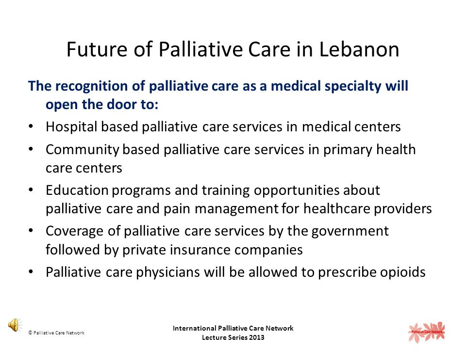 Provision of home based palliative care services Facilitators at the caregiver level: Provision of equipment or practical support was the easiest way