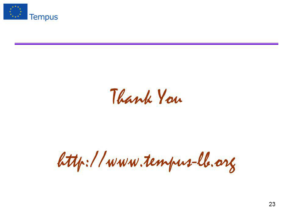 Thank You http://www.tempus-lb.org 23