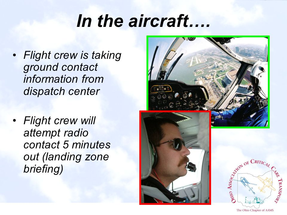 In the aircraft….