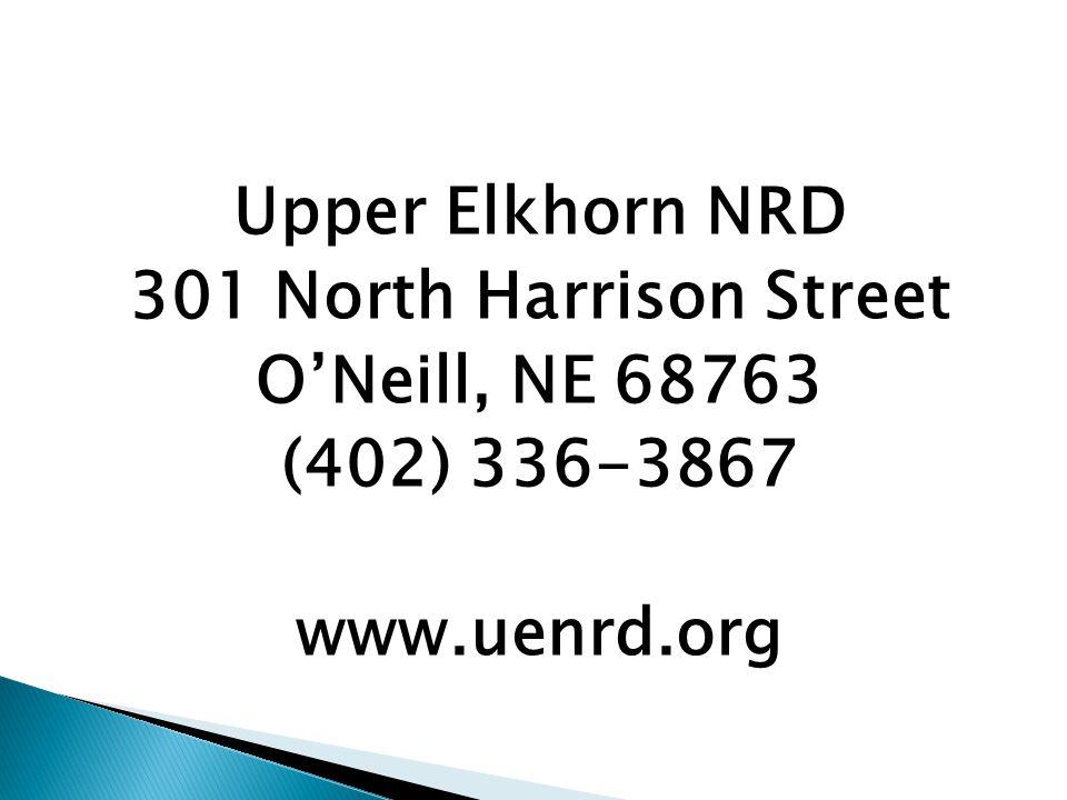 Upper Elkhorn NRD 301 North Harrison Street O'Neill, NE 68763 (402) 336-3867 www.uenrd.org