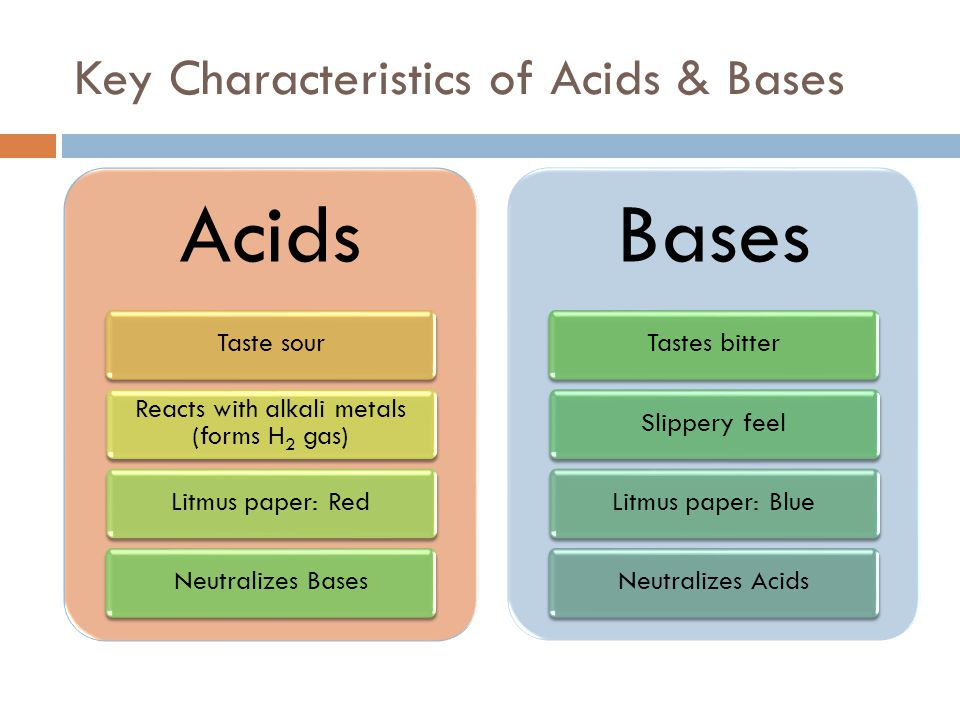 Theories of Acids & Bases  Arrhenius Theory of Acids & Bases  Properties of acids are due to the presence of H + ions Example: HCl  H + + Cl -  Properties of bases are due to the presence of OH - ions Example: NaOH  Na + + OH -