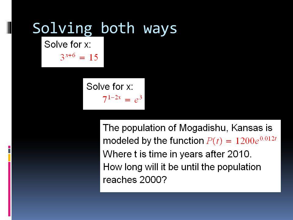 Solving both ways