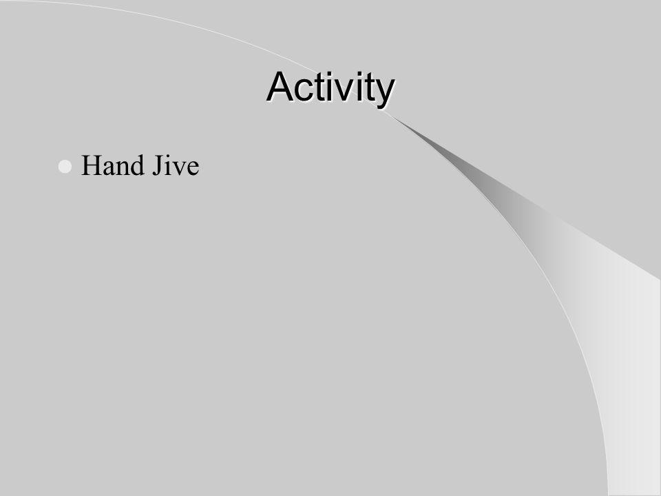 Activity Hand Jive