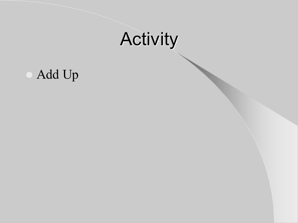 Activity Add Up