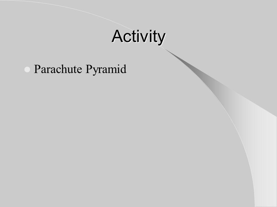 Activity Parachute Pyramid