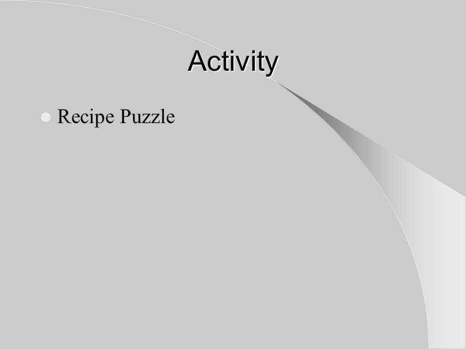 Activity Recipe Puzzle