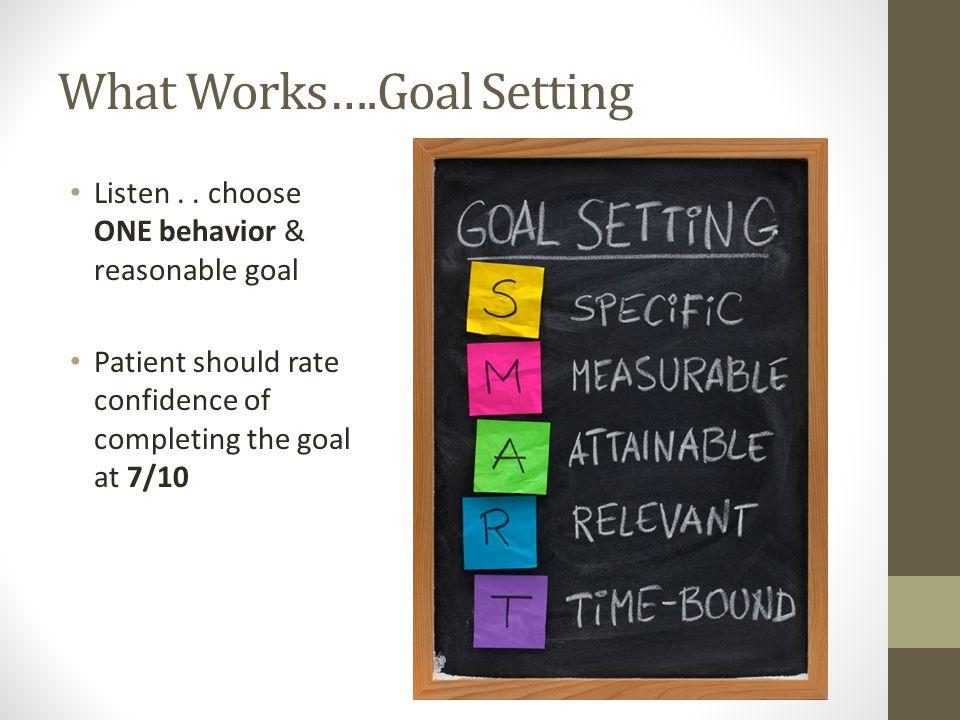 What Works….Goal Setting Listen..