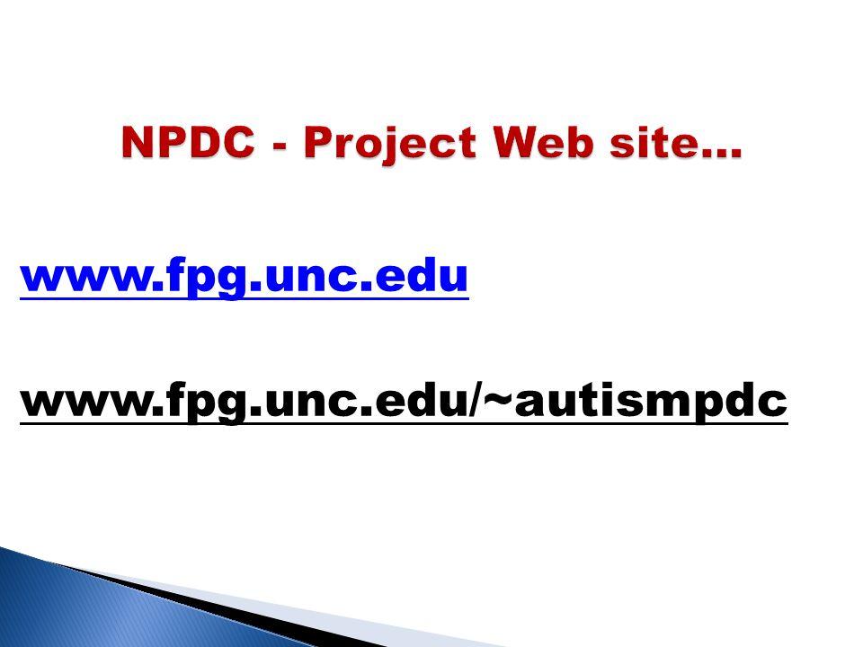 www.fpg.unc.edu www.fpg.unc.edu/~autismpdc