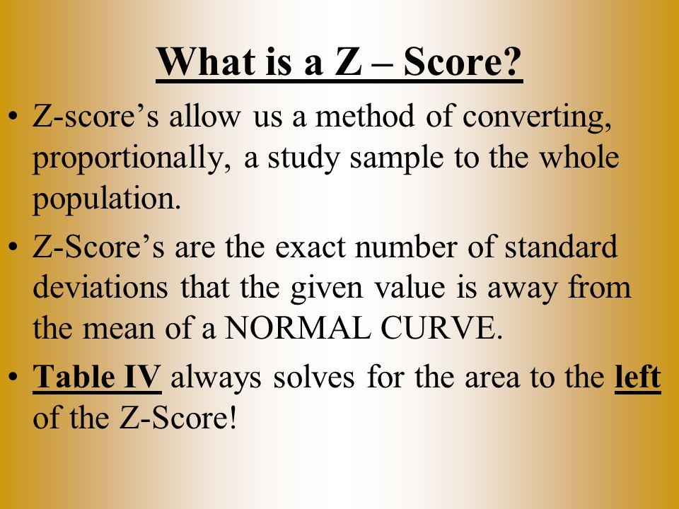 What is a Z – Score.