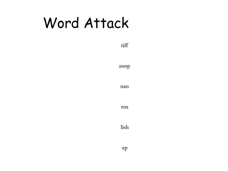 Word Attack