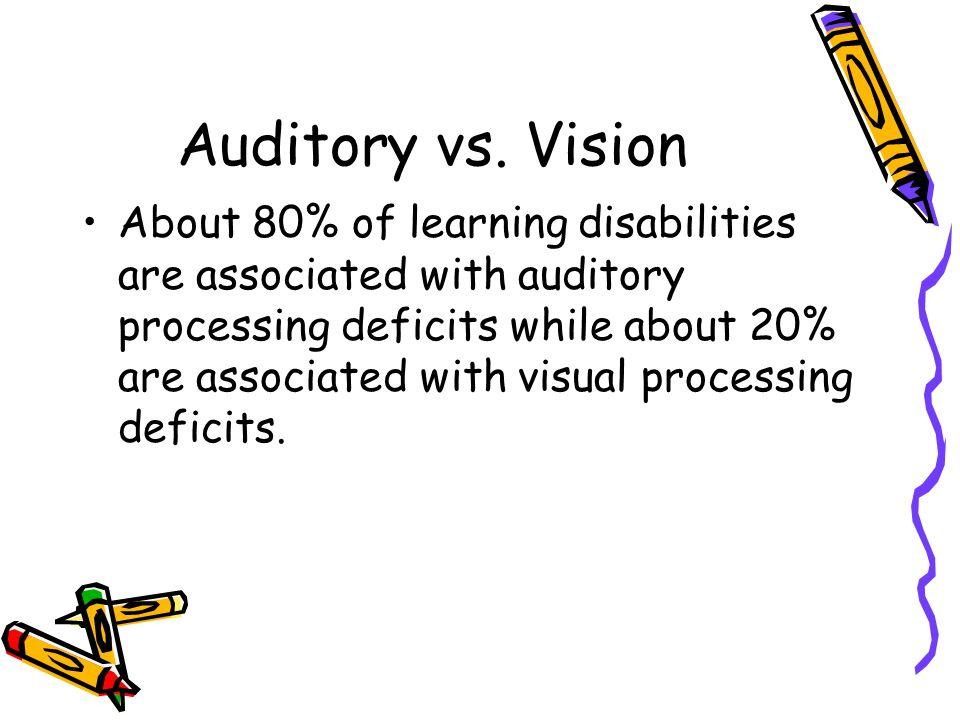 Auditory vs.