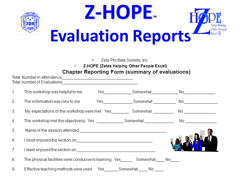 Z-HOPE  Z-HOPE  Evaluation Zeta Phi Beta Sorority, Inc.