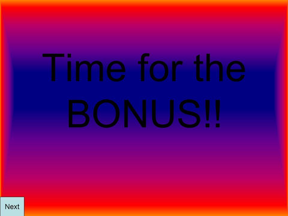 Time for the BONUS!! Next