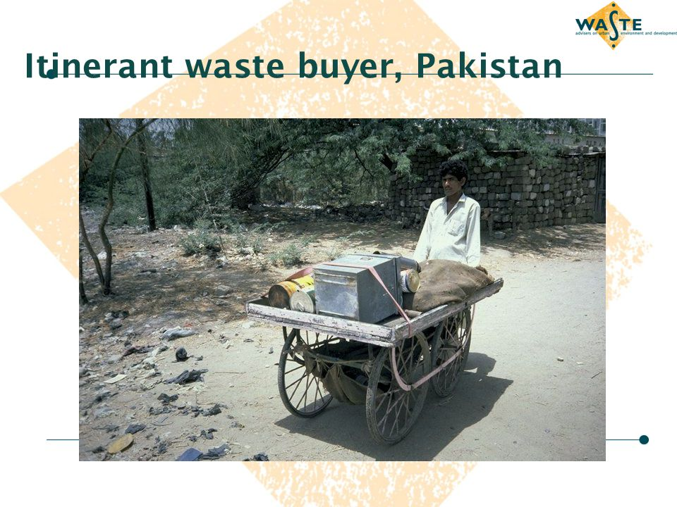 Itinerant waste buyer, Pakistan