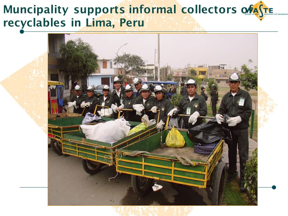 Muncipality supports informal collectors of recyclables in Lima, Peru