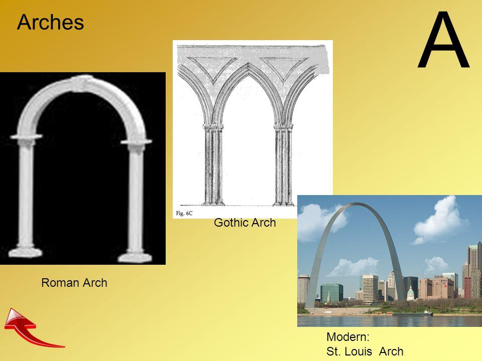 A Arches Roman Arch Gothic Arch Modern: St. Louis Arch