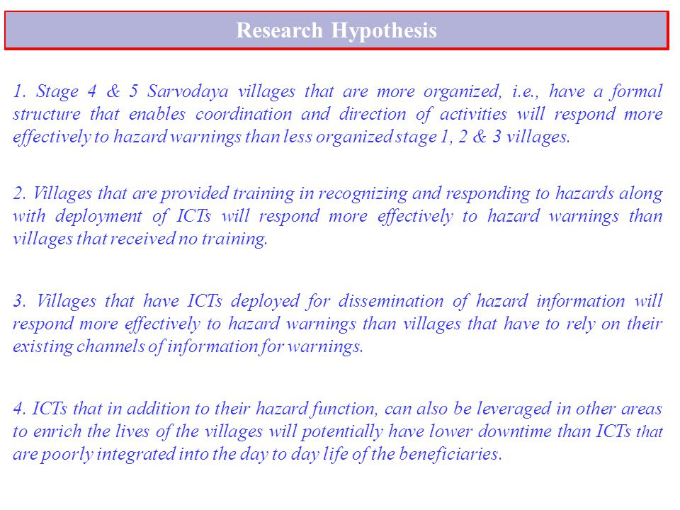 Research Hypothesis 1.