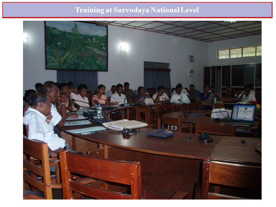 Training at Sarvodaya National Level