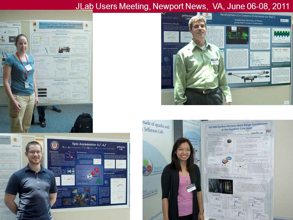 JLab Users Meeting, Newport News, VA, June 06-08, 2011 15