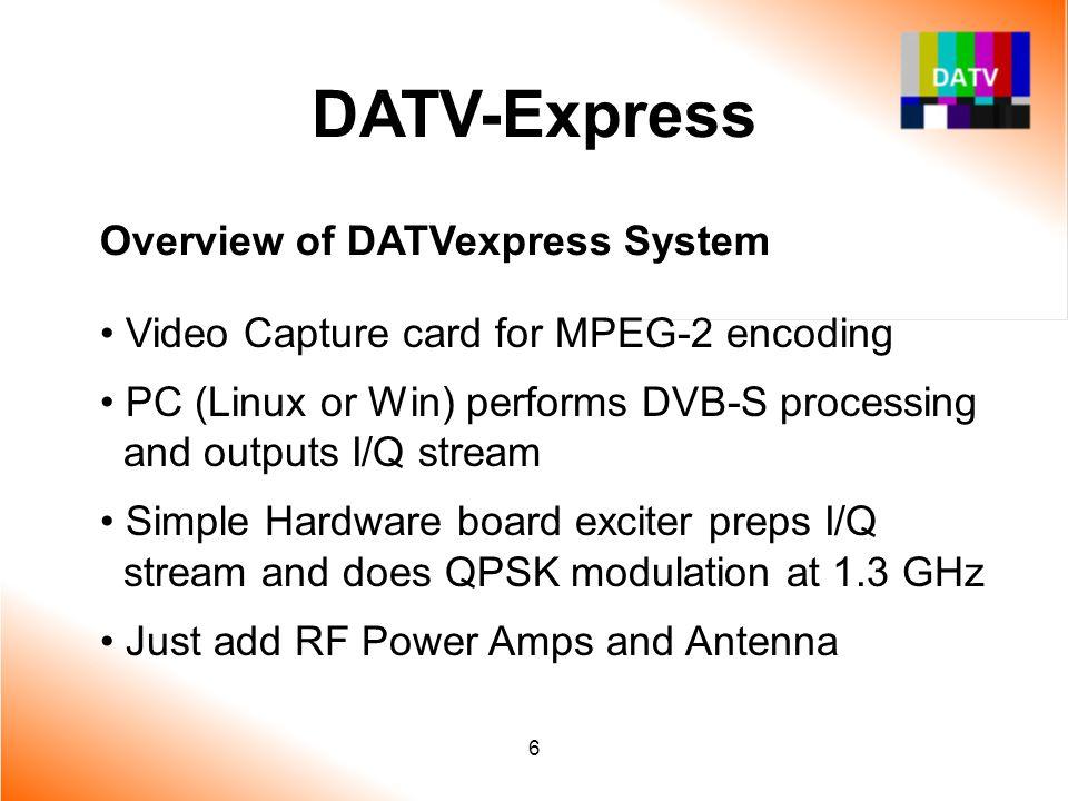 7 DATV-Express Overview of DATVexpress System – cont'd System Block Diagram for DATVexpress DATV Transmitter
