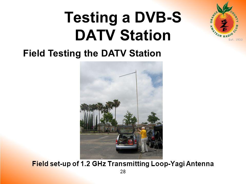 28 Testing a DVB-S DATV Station Field Testing the DATV Station Field set-up of 1.2 GHz Transmitting Loop-Yagi Antenna