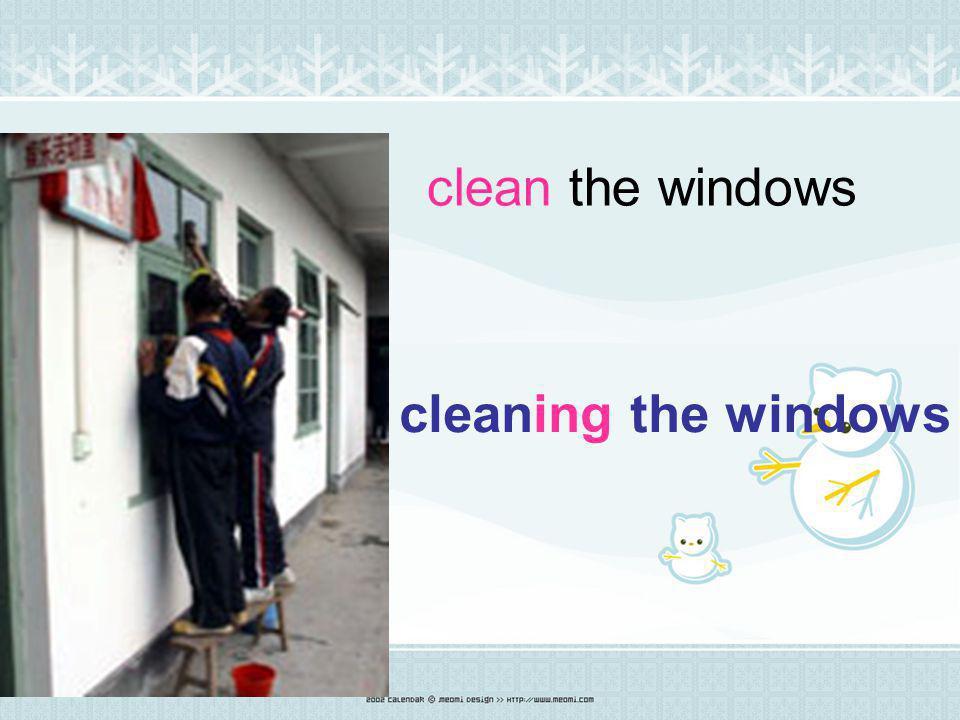 sweep the floor Sweeping the floor