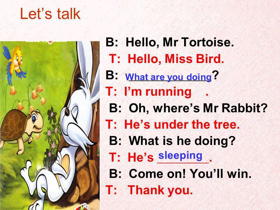 A:Hello, is that … B:yes. A:what you are doing B:I am … A:….