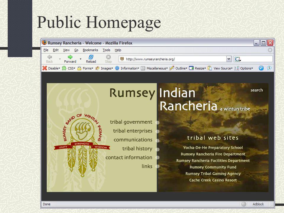 Public Homepage