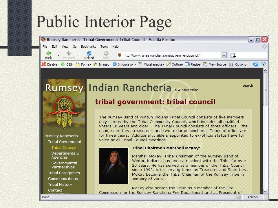 Public Interior Page