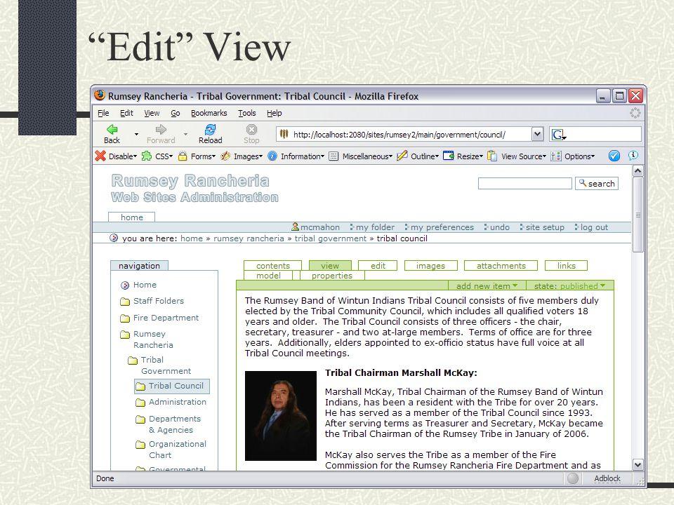 """""""Edit"""" View"""